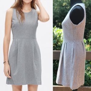 Madewell Verse Gray Jersey Knit Fit Flare Dress